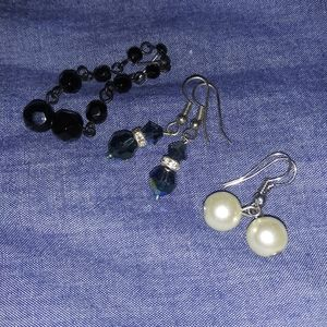3 pairs of beaded earrings